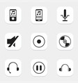 set of 9 editable melody icons includes symbols vector image vector image