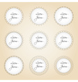 set of simple lines circle border decorations vector image