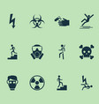 sign icons set with corrosive chemical poison vector image