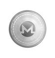 silver monero coin symbol vector image