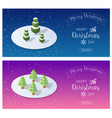 snow covered christmas vector image vector image