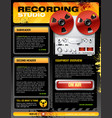 Sound recording studio brochure flyer detailed