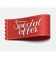 special offer label ribbon transparent background vector image