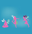 sport fitness female silhouette background vector image vector image