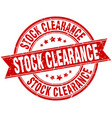 stock clearance round grunge ribbon stamp vector image