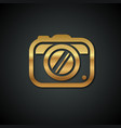 stylish logos with a gold camera on a black vector image vector image