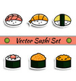 sushi set isolated vector image vector image