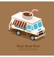 Truck coffee vector image vector image