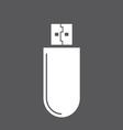 usb icon1 resize vector image