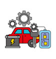 vehicle battery and keys automotive service vector image