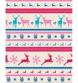 Vintage Christmas reindeers seamless pattern vector image vector image