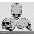 Vintage skulls set vector | Price: 1 Credit (USD $1)