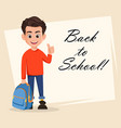 welcome back to school greeting card vector image vector image