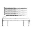 wooden bench street comfort decorative vector image vector image