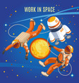 work in space isometric composition vector image