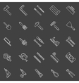 Work tools line icons vector image