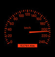 car speedometer dial high speed concept vector image