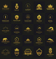 set of luxury hotel logos and emblems logo vector image