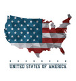 usa flag map united states of america country vector image