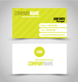Business card set template Bright green and white vector image