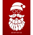 Merry Christmas Chalk lettering with Santa Claus vector image
