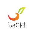 hot chili logo vector image