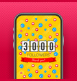 3000 followers thank you social sites post thank vector image vector image