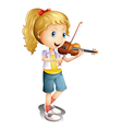 A girl playing with her violin vector image vector image