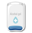 a sticker template with alcohol gel sanitizer