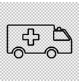Ambulance sign Line icon vector image vector image