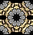 antique golden repeatable wallpaper damask vector image
