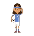 Argentine soccer player vector image vector image