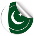 badge design for flag of pakistan vector image vector image