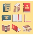 Books icons set isolated vector image vector image