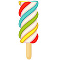 bright colorful fruit popsicle icon poster vector image