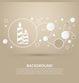 candle icon on a brown background with elegant vector image