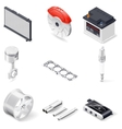 Car parts isometric icon set vector image vector image