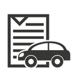 car vehicle silhouette icon vector image vector image