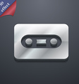 Cassette icon symbol 3D style Trendy modern design vector image vector image