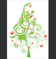 christmas decorated tree vector image vector image