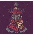 christmas tree hand-lettering vector image vector image
