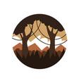 circle-shaped emblem of beautiful jungle