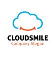 Cloud Smile Design vector image vector image