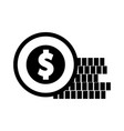 coins money isolated icon vector image