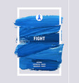 colorectal cancer awareness creative grey and blue vector image