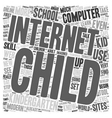 Computers for Kiddos 1 text background wordcloud vector image vector image