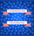 constitution day and citizenship day vector image vector image