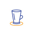 cup of tea line icon fresh beverage sign vector image vector image