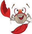 Cute red crab Cartoon vector image vector image