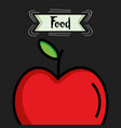 delicious apple fresh fruit icon vector image